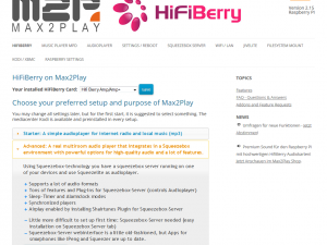 HiFiBerry – Advanced Squeezebox Settings