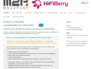 HiFiBerry – Advanced Squeezebox Settings