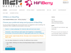 Max2Play HiFiBerry Image
