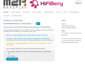 Max2Play HifiBerry Image