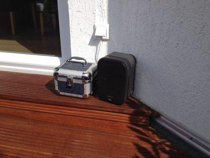 Max2Play Audiosetup mit Boxen und Verstärker