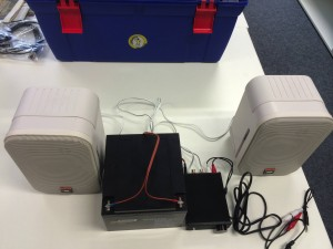 Max2Play Mobile Music Setup with Speakers and Amplifier