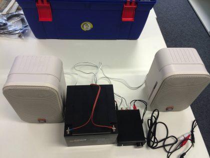 Max2Play mobiles Musik-Setup mit Boxen und Verstärker