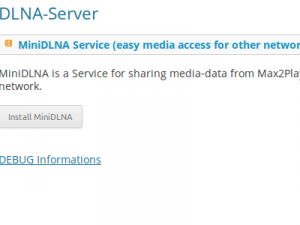Plugin DLNA Server