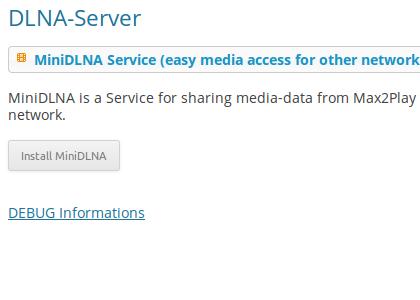 Plugin DLNA-Server