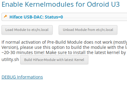 Plugin ODROID U3 Kernel Modules