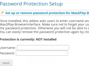 Plugin Password Protection