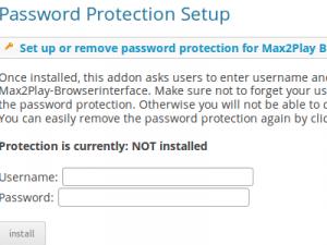 Plugin Passwortschutz