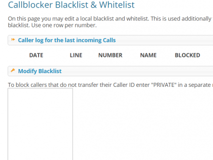 Plugin tellows Callblocker