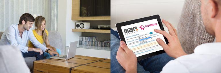 Max2Play Bedienung mit dem PC, Tablet oder Smartphone