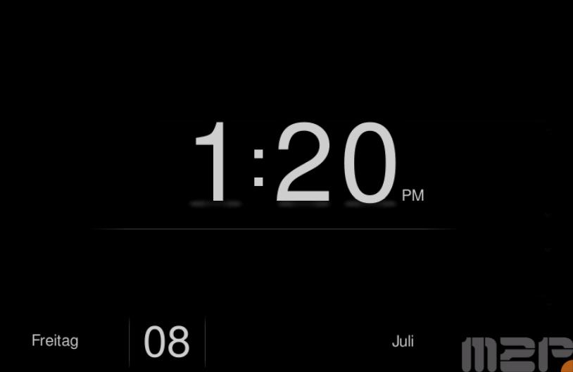 Bildschirmschoner Digital-Uhr