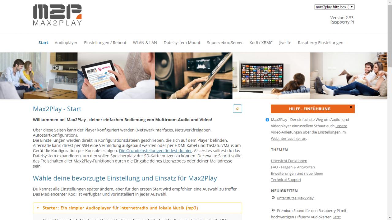 Neues Design Browsersteuerung