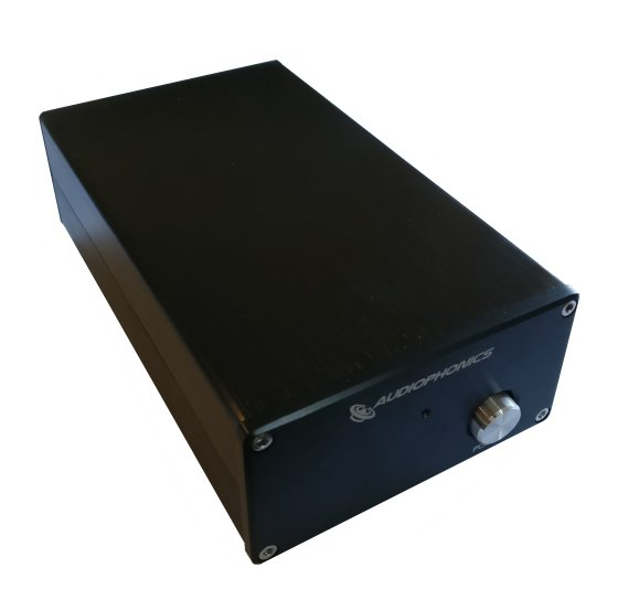 Audiophonics Linear Regulated Power Supply front view.