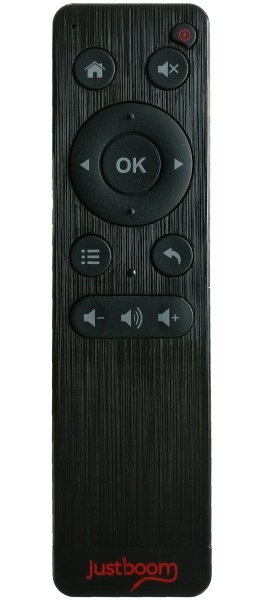 The JustBoom IR Remote in black.