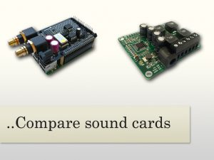 Sound Cards can now be compared