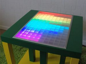 LED-Table with Touch-Control and Apps like Spectrum-Analyzer, Tetris, Snake and Squeezebox Integration