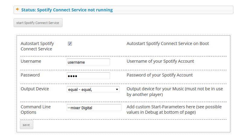 Plugin Spotify Connect (en)   Max2Play