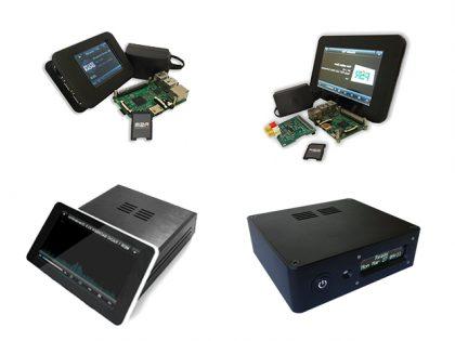 Raspberry Pi Displaybundle für jedes Audio Setup, mit Amp, Digi oder Dac Soundkarte