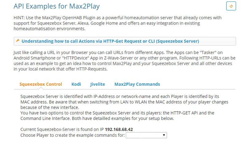 API-Examples | Max2Play