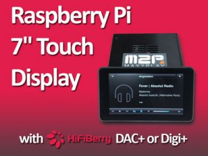 Raspberry Pi Hi-Fi Streamer with 7 inch Touch Display and HiFiBerry Sound Card